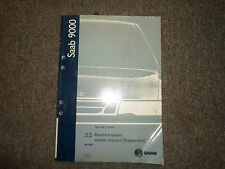 1998 Saab 9000 3:2 Electrical System- System Diagrams Supplement Service Manual