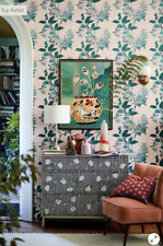 Anthropologie Paule Marrot Parrot Wallpaper Roll Pink/Green