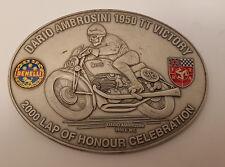 Dario Ambrosini 1950 TT Victory TTRA Benelli Plakette Badge Emblem