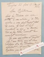 ♦ L.A.S 1918 FOUGERES Ille et Vilaine - à identifier - Paul LOUBET WW1 lettre
