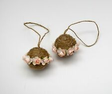 SET OF 4, Pink Flower Balls, Handmade Wedding Pomanders, Pomander Balls Hanging