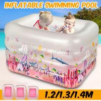 Large Inflatable Swimming Pool Kids Baby Paddling Fun Garden Outdoor Summer