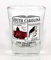 SOUTH CAROLINA STATE SCENERY RED NEW SHOT GLASS SHOTGLASS