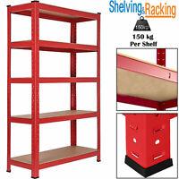 Garage Shelves Shelving 5 Tier Racking Boltless Heavy Duty Storage Shelf 150cm