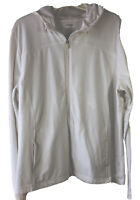 Danskin Now Women's XXL (20) White Hoodie Full Zip Up Hooded Jacket Lightweight