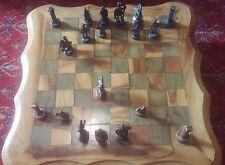 Jeu d'échecs en bois et pions en métal - Wood Chess - Metal Tokens - 26 * 26 -