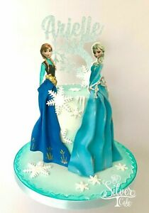 Custom Cake Topper 5th Birthday Frozen Themed Snowflakes Personalised Customised
