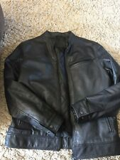 Next Black Mens Leather Jacket Size Medium Chest 38-40