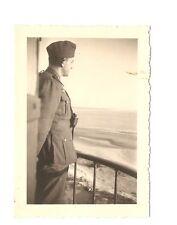 Altes Foto Bild Deutsches Reich 2. Weltkrieg Soldat Blick auf Meer [489]