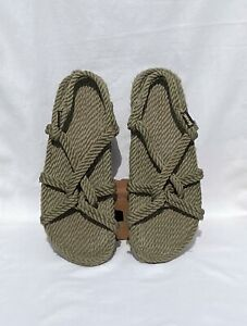 GURKEES MENS ROPE SANDALS OLIVE KHAKI GREEN~SIZE 12