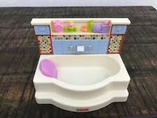 LOVING FAMILY Bathtub Bathroom Soaker Tub DOLLHOUSE FURNITURE FISHER PRICE