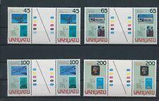 LN89728 Vanuatu 1990 London stamp expo gutter pairs MNH