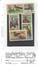 CZECHOSLOVAQUIA 1339 TO 1344 MH COMPLETE SET,BIRDS TOPIC TO 40% SCOTT CATALOG
