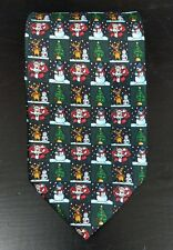 Men's Christmas novelty necktie snowman Santa Claus reindeer Christmas tree tie