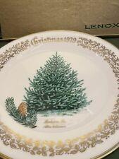 1979 Lenox Christmas Tree annual plate 'Balsam Fir' Commemorative Orig box