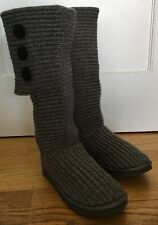 UGG Australia Women's Size 8 Classic Cardy Boots 5819 Gray Triplet Bailey Button