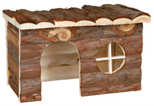 Natural Wood Bark Jerrick House Den Retreat Cabin for small animals Rodents