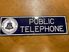 Vintage Porcelain Bell Telephone Sign 19 By 5 1/2 Inches