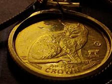 "1990 New York Alley Cat 1/25th oz Gold coin pendant set on an 18"" 18kgf chain"