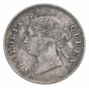 SILVER Roughly the Size of a Dime 1883 Mauritius 10 Cents World Silver Coin *470