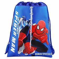 Spiderman Blue Drawstring Bag School Backpack