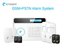 eTIGER S4 Wireless GSM Alarm System 433Mhz Home Security Compatible Chuango G5