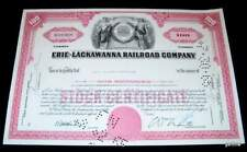 ERIE-LACKAWANNA RAILROAD COMPANY 1965 100 SHARES OF COMMON STOCK CERTIFICATE