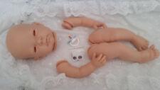 "REBORN BABY- DOLL KIT""CELIA "" FULL LIMB NO BODY  EYES & BLUE  DUMMY  INCLUDED"