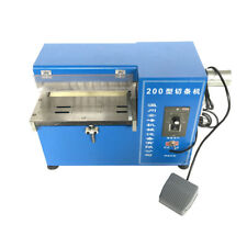 Leather Cutting Slitting machine Slitter Shoe Bags Cutter Speed Adjustable 110V