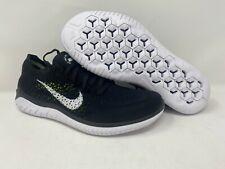 Nike Free Run Flyknit 2018 Men's Size 8.5 Running Shoes Black White 942838 001