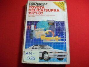 1971-1987 TOYOTA CELICA & SUPRA-ALL MODELS-REPAIR, TUNE-UP & MAINTENANCE MANUAL