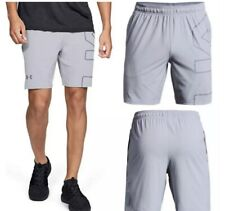 UNDER ARMOUR Cage Graphic Men's Training Shorts Overcast Grey Size 2XL