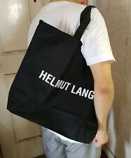NEW HELMUT LANG Black Extra Large Waterproof Shopper Shoulder TOTE Handbag Bag
