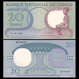 Congo 20 Francs, 1962, P-4, UNC