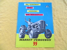 Tracteur Massey Fergusson 35 - dépliant publicitaire 1958