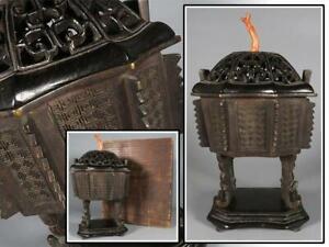 Chinese Antique Ming Dynasty Bronze Incense Burner / W 15× H26[cm] 1310g