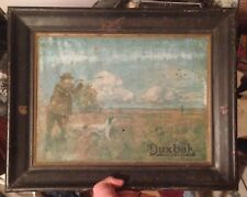 Antique Utica Duxbak Corp. Clothing Hunting Tin Sign