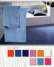 1 asciugamano + 1 ospite MICROFIBRA arancio giallo blu azzurro palestra piscina