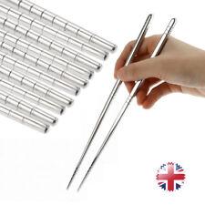 5pair Korean Stylish Non-slip Design CHOP Sticks Stainless Steel Chopsticks UK