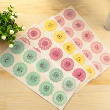 Lot 10Pcs Transparent Round Lace Envelope Greeting Card Seal Label Sticker Decor