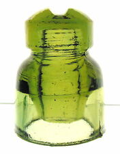 CHARTREUSE CD 565.1  GLASS INSULATOR. REVERSE 4 ON THE DOME.