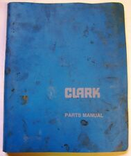 Clark Model I-225-18 Forklift Lift Trucks Dealer Parts Catalog