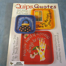 "Prudy Vannier ""Quips, Quotes & Little Sayings"" Decorative Tole Painting Book"
