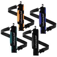 Black Orange Golf Clubs Holder Carrier Portable Travel Case Sunday Range Bag New