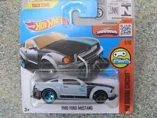 HOT WHEELS 2016 # 021/250 2005 Ford Mustang Gris HW digital Circuito Funda K