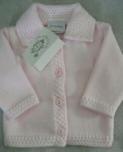 Dandelion Baby Girls Cardigan Pink Portugal Made Collar  0-3 Months New & Tagged