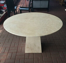Actona Round Travertine Marble dining table