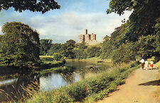 Postcard Northumberland Warworth Castle and the river Coquet unposted Dixon
