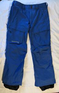 BURTON DryRide Vent Snowboard Pants Men's Size L Lapis Blue Cargo