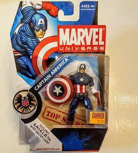 "Marvel Universe CAPTAIN AMERICA 3.75"" NEW Action Figure #012 Series 2 Avengers"